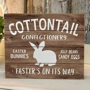 Cottontail box sign